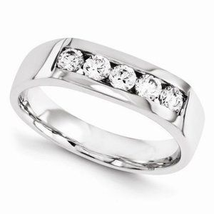 14Kw Diamond Band Mens Jewelry